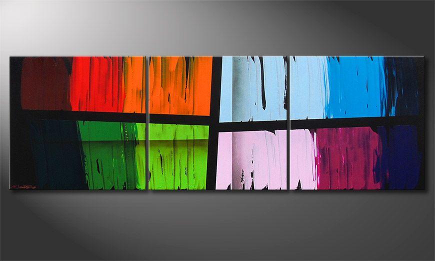Painting Disparate Impact 210x70x2cm