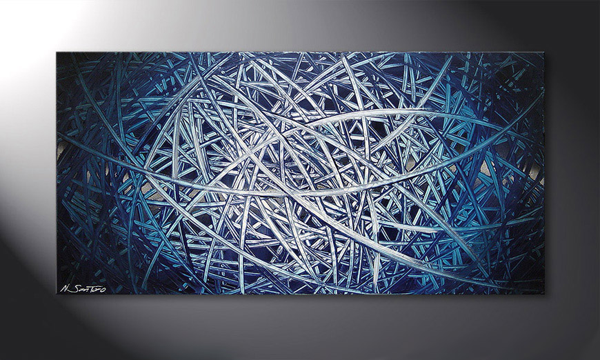 Painting Energy of Water 120x60x2cm