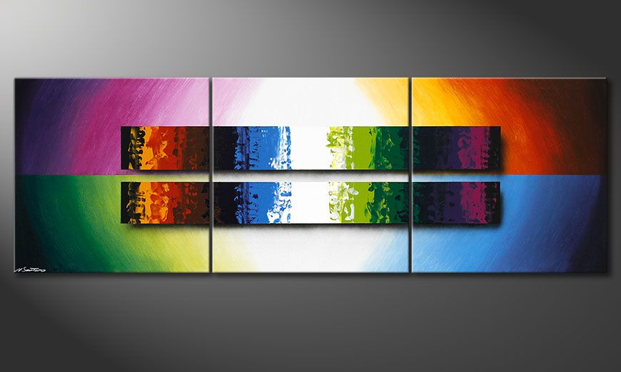 Painting Expression of Colours 210x70x2cm