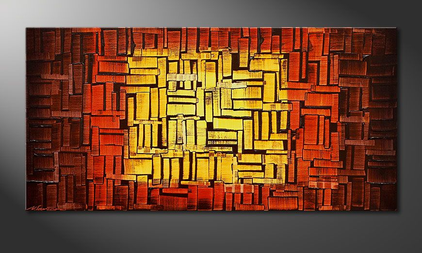 Painting Fire Cubes in 120x60x2cm