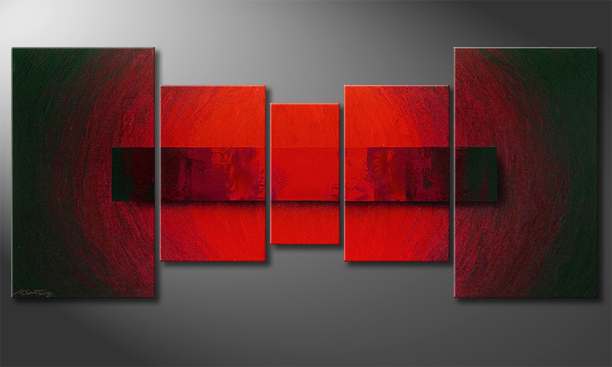 Painting Glowing Bloc in 160x70x2cm