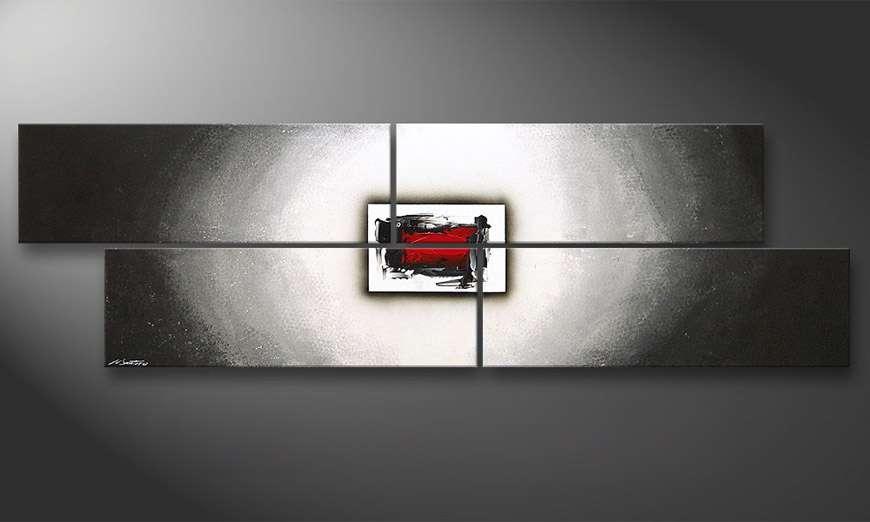 Painting Inner Glow in 200x60x2cm