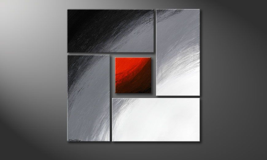 Painting Internal Heat 90x90x2cm (2 und 4cm)
