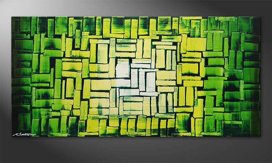 Painting Jungle Light in 120x60x2cm