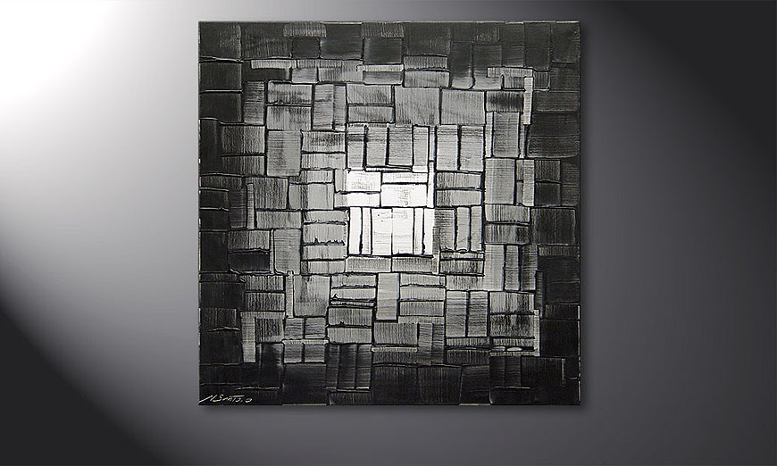 Painting Light Cube in 80x80x2cm