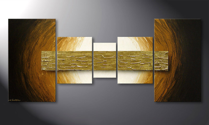 Painting Natural Gold in 160x70x2cm