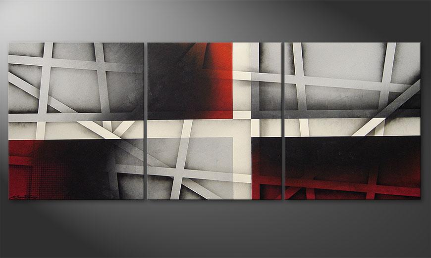 Painting Sizzling Emotions 180x70x2cm