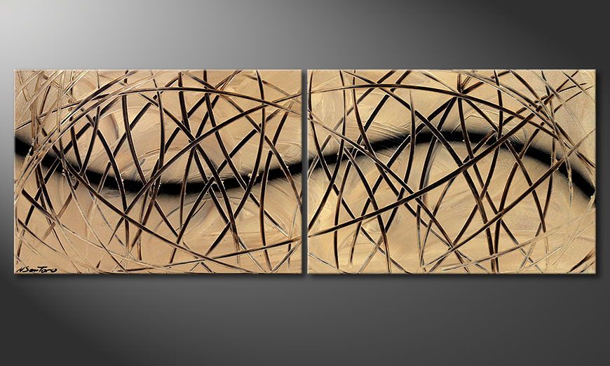 Painting Snow Tempest 140x50x2cm