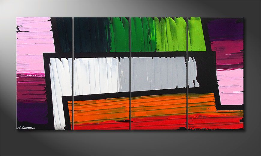 Painting Structure of Colors 160x80x2cm
