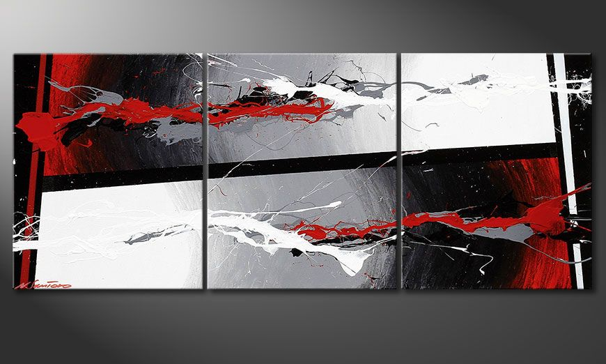 Shabby Chic painting Powerful Contrast 120x50x2cm
