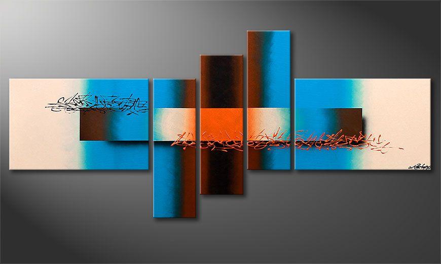 Small painting Summer Spirit 150x60x2cm