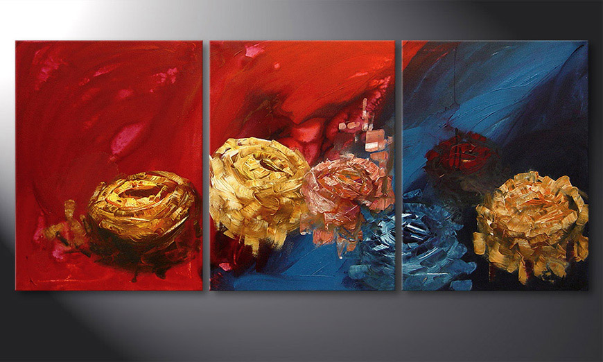 Spirit of Roses 180x80x2cm Hand-painted painting