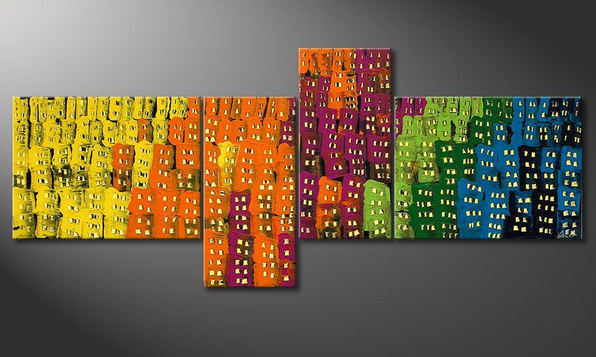 Supersize painting Crazy Town 240x100x2cm