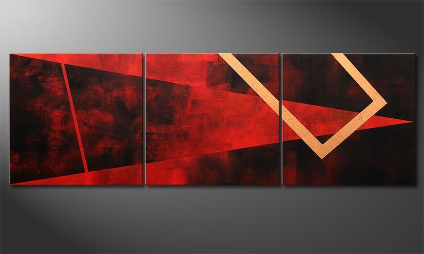 Wall art Golden Vision 210x70x2cm