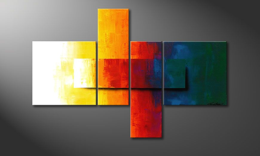Wall decoration Rainbow Colors 120x80x2cm
