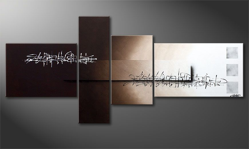 XXL painting Between Night & Day 220x100x2cm