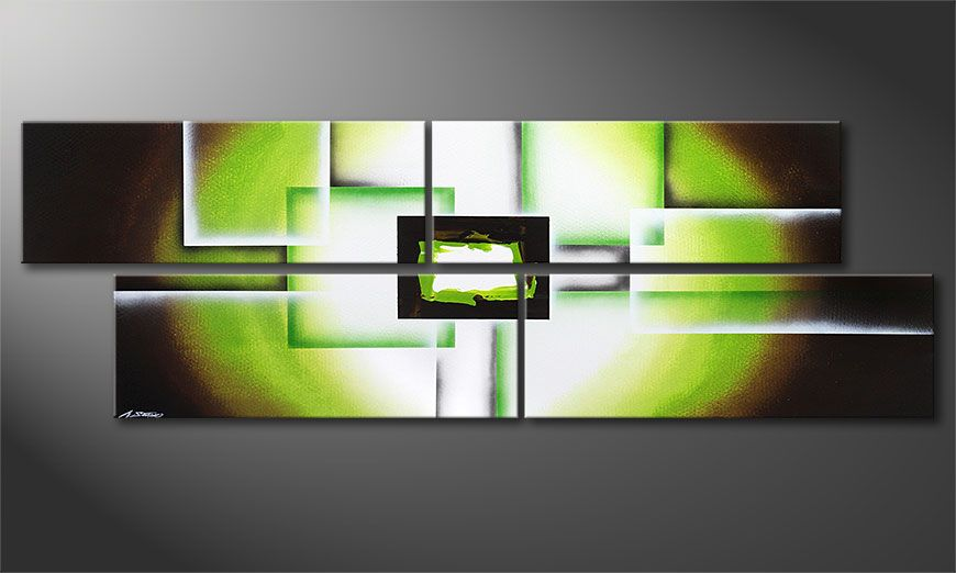 XXL painting Green Spirit 245x80x2cm