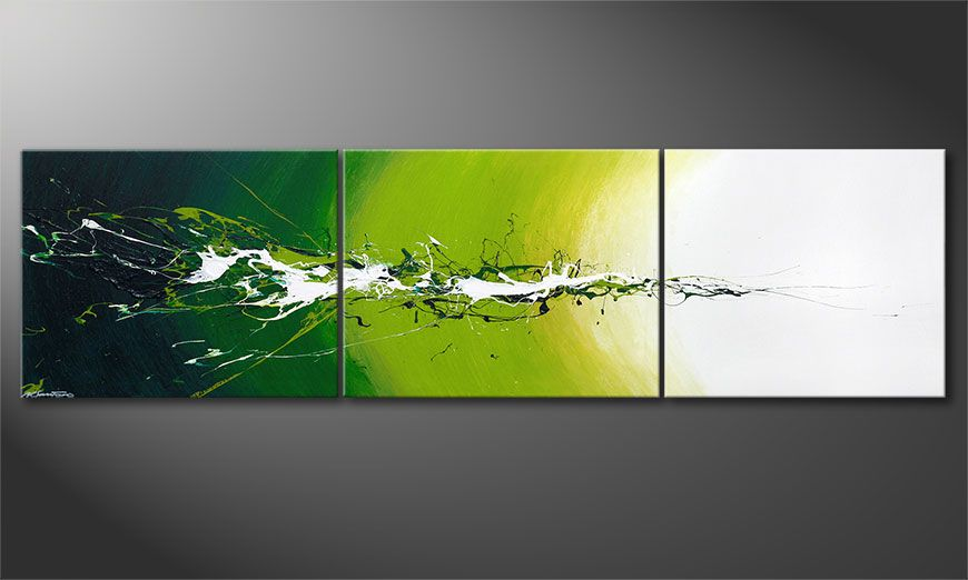XXL painting Power of Nature 260x70x2cm