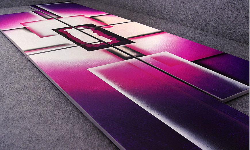 XXL painting Purple Sun in 250x80x2cm