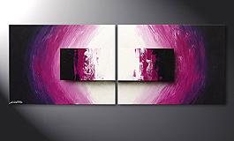 Modern Painting 'Purple Rain' 160x60cm