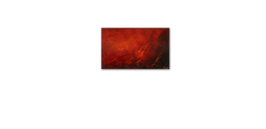 Hand painted painting Red 100x60cm
