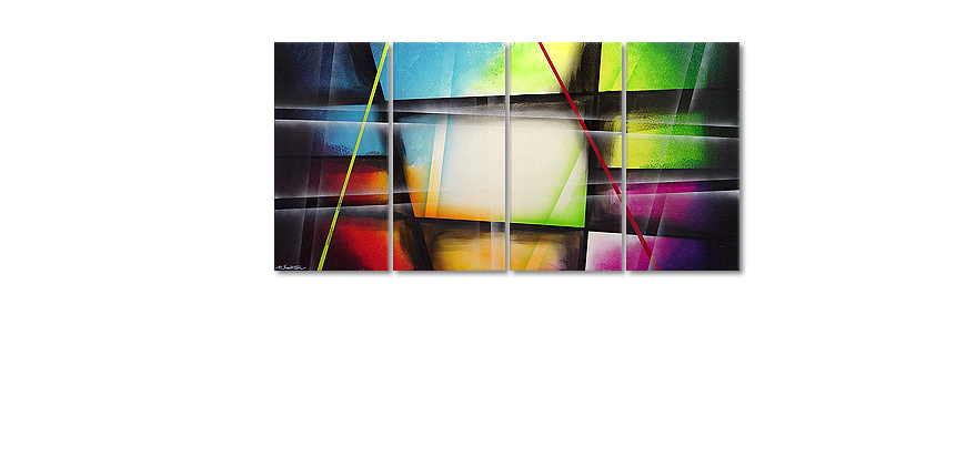 Canvas painting Window to Rainbow 160x80cm