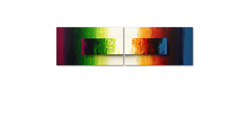 Modern Painting Battle of Colours 200x60cm