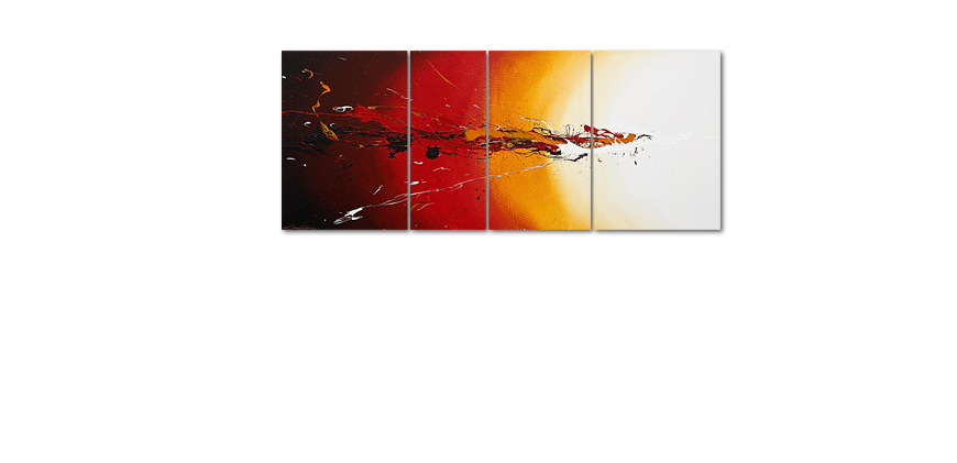 Modern Painting Fiery Splash 170x70cm