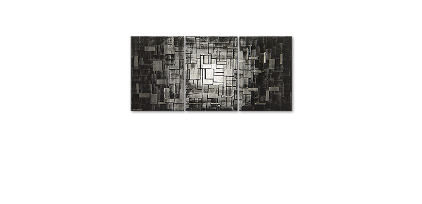 Modern Painting Moon Cubes 150x70cm