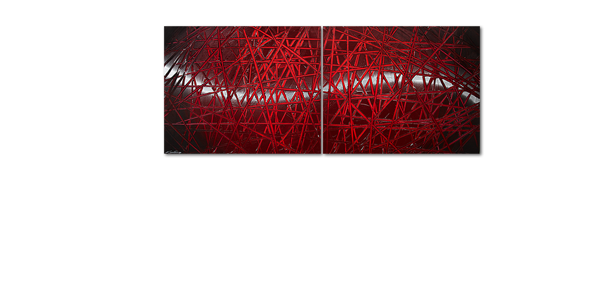 Modern painting Red Push 200x80cm