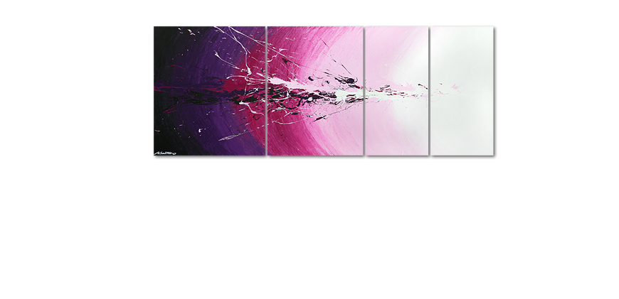 Multiframed painting Cosmic Splash 210x80cm