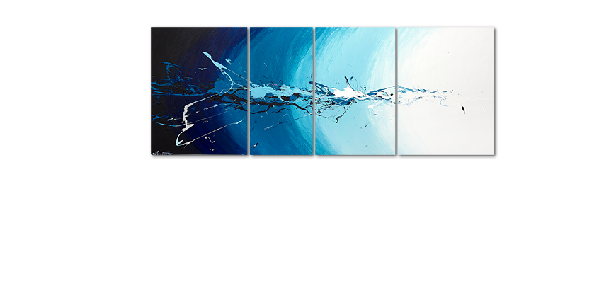 Multiframed painting Water Splash 210x80cm
