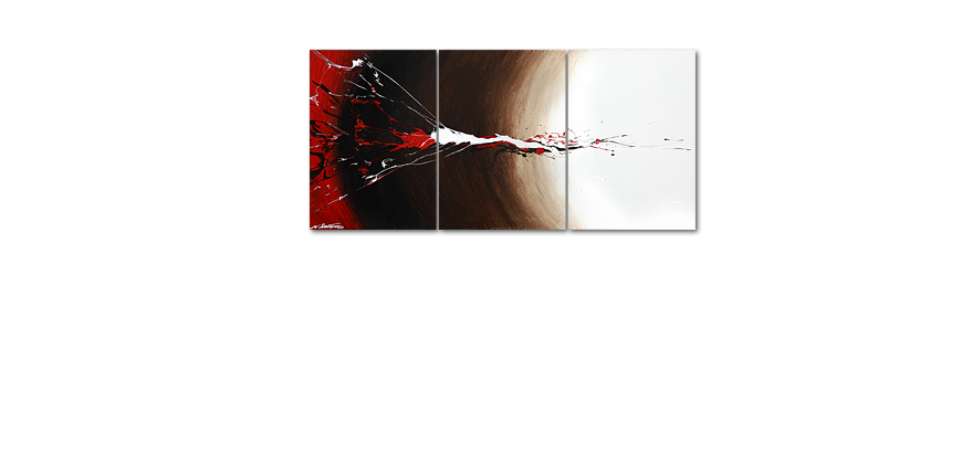 Painting Erupted Contrast 150x70cm