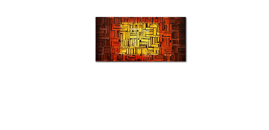 Painting Fire Cubes in 120x60cm