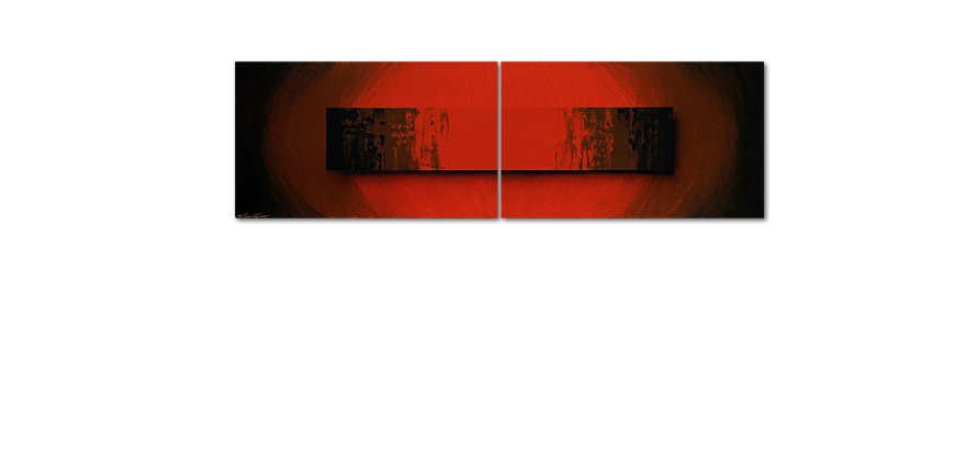 Painting Glowing Red 200x60cm