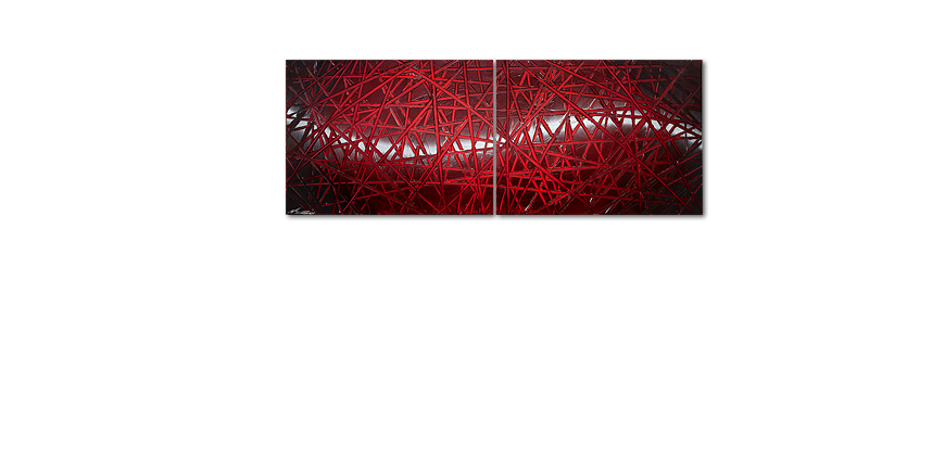 Painting Red Push 160x60cm