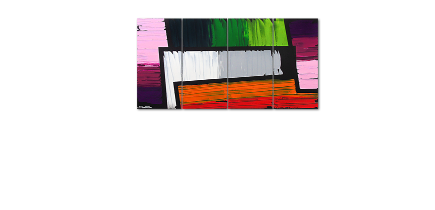 Painting Structure of Colors 160x80cm