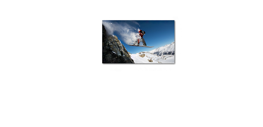 Art print Snow Ride 100x60cm