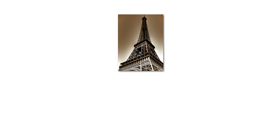 Canvas print Eiffel Tower in 80x100cm
