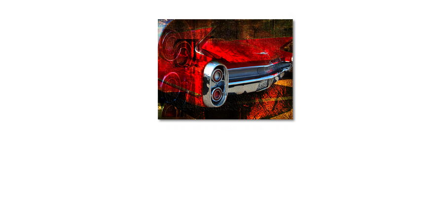 Modern art print Red Car 100x70cm