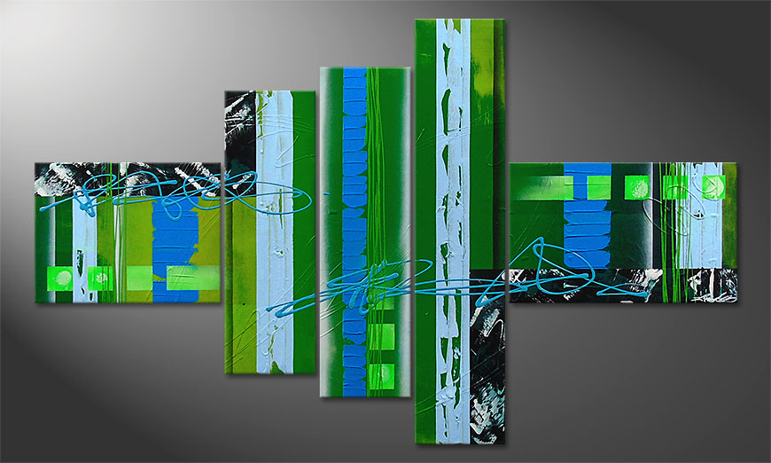 Modern Hand-painted painting Fresh Momentum 150x90x2cm