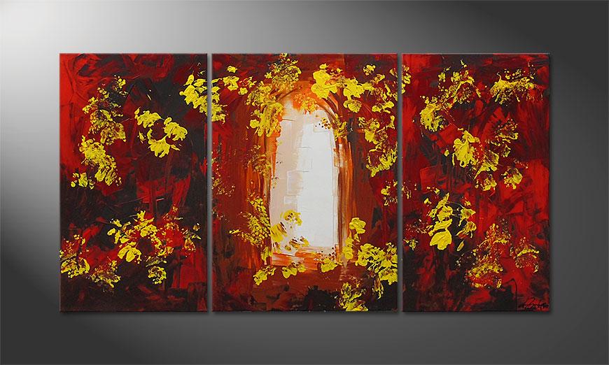 Painting Garden Gate 130x70x2cm