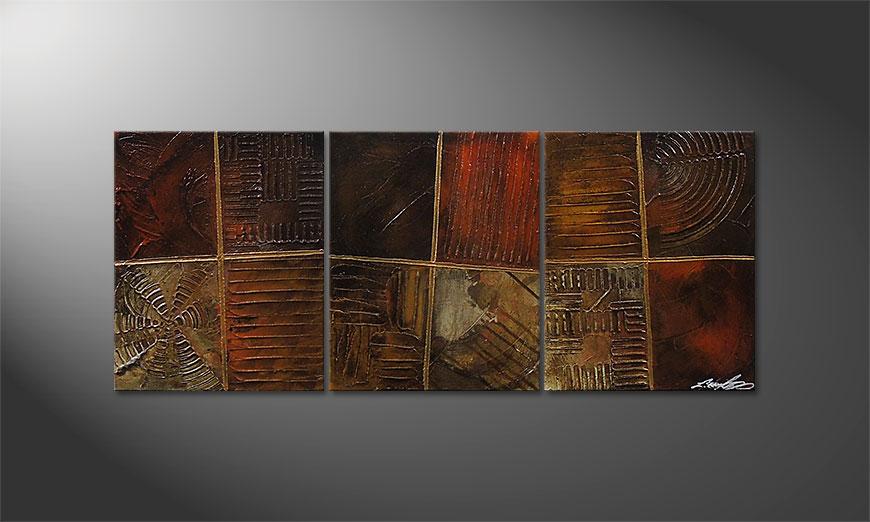 Painting Potpouri of Memories 120x50x2cm
