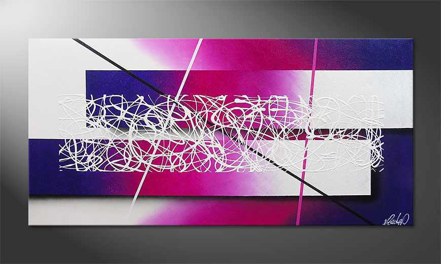 Modern Painting Fancy Connection 140x70cm