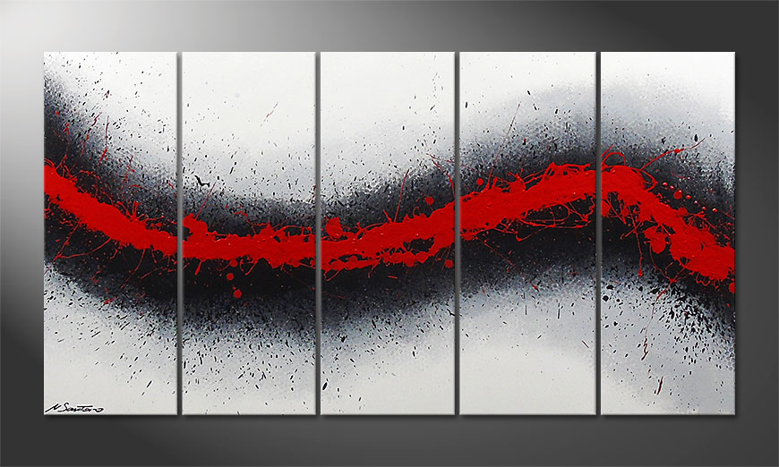 Painting Glowing Trace 150x80cm