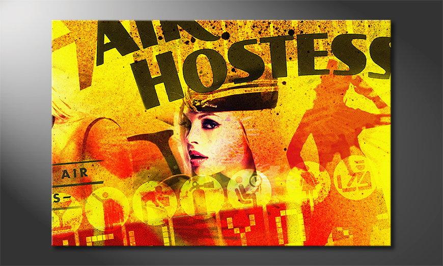 Abstract art print Air Hostess