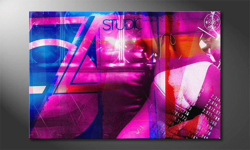 Abstract art print Studio 54 in 6 sizes