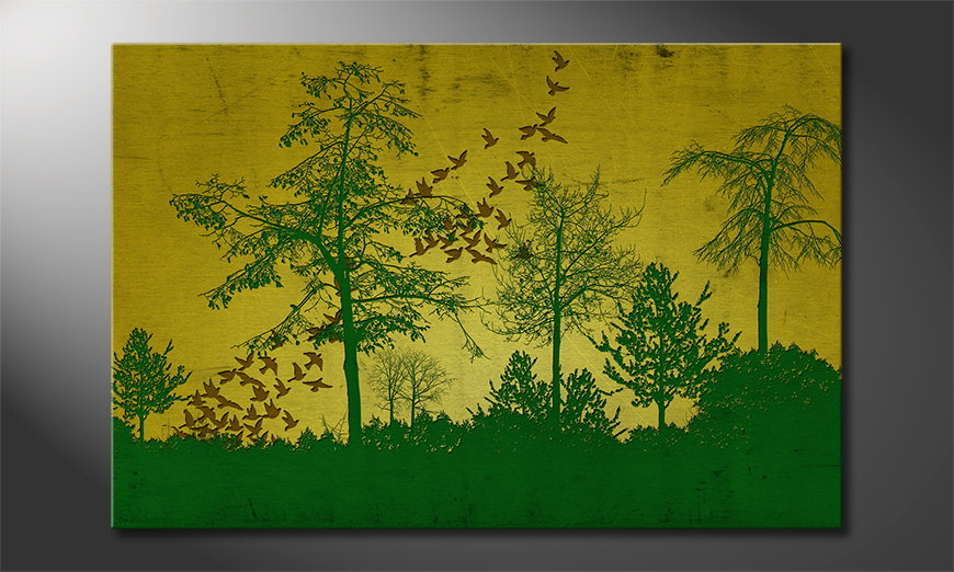 Art print Birds in Forest