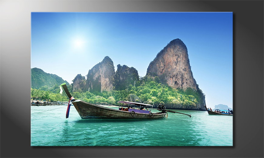 Art print Boats in Bay