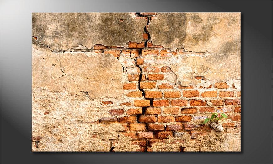 Art print Broken Wall